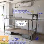 giường tầng khung sắt Hòa Phát